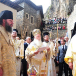 Ecumenical Patriarch at Panagia Soumela in Trebizond, August 15,2012