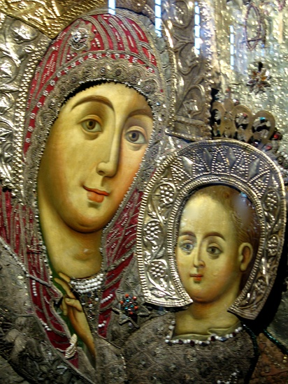 Icon of the Virgin and Child in the Grotto of the Nativity