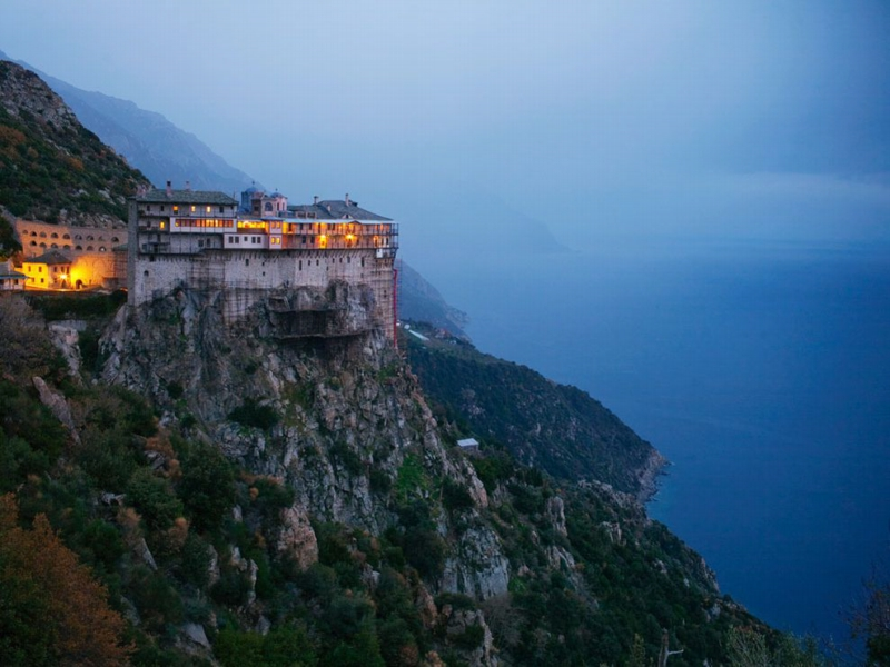 Simonos Petra Monastery, Photo by Travis Dove,National Geographic,December 2009