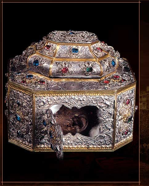 The precious Skull of Saint John Chrysostom, treasured by the Monastery of Vatopedi on Mount Athos