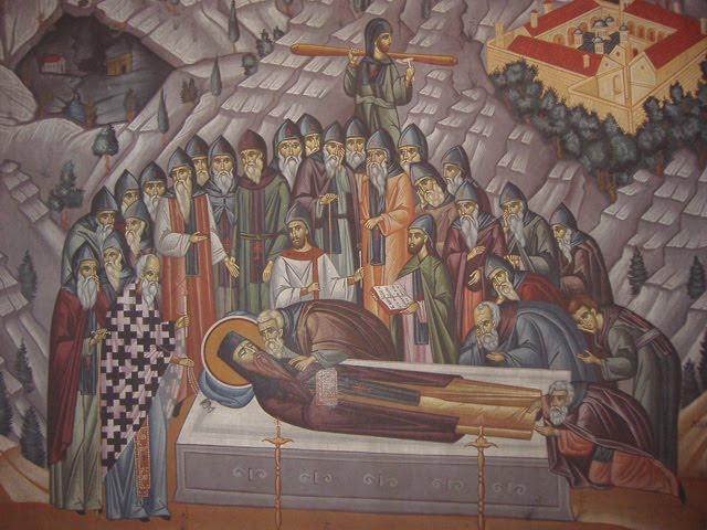 The repose of Saint Dionysios