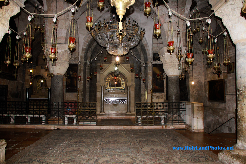 The Chapel of the Finding of the Cross is found within the Holy Sepulchre and is the traditional spot in which St. Helen discovered the True Cross of Christ in the 4th century.