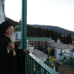 Ecumenical Patriarch Bartholomew on Mount Athos