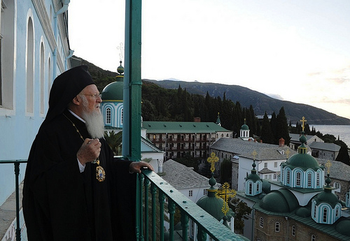 Ecumenical Patriarch Bartholomew on Mount Athos