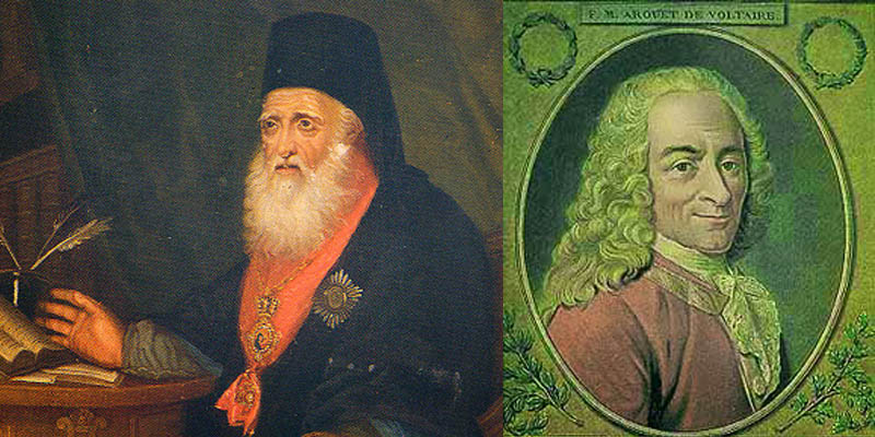 A Confrontation between Evgenios Voulgaris and Voltaire