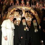Ecumenical Patriarch Bartholomew and Pope Francis Pray Together at the Holy Sepulchre