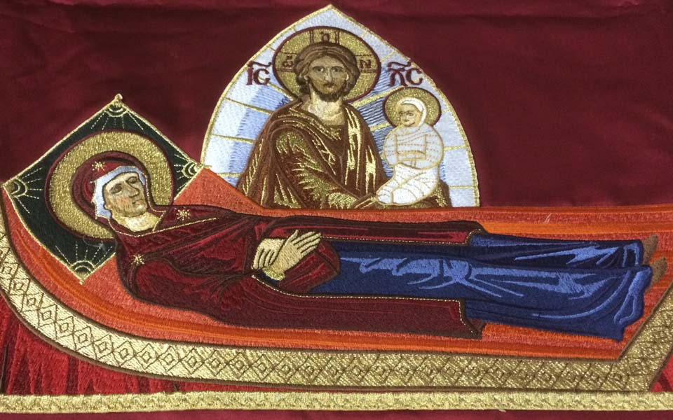 The Icon of the Dormition of the Theotokos from the Orthodox Cathedral of Saint Luke in Hong Kong