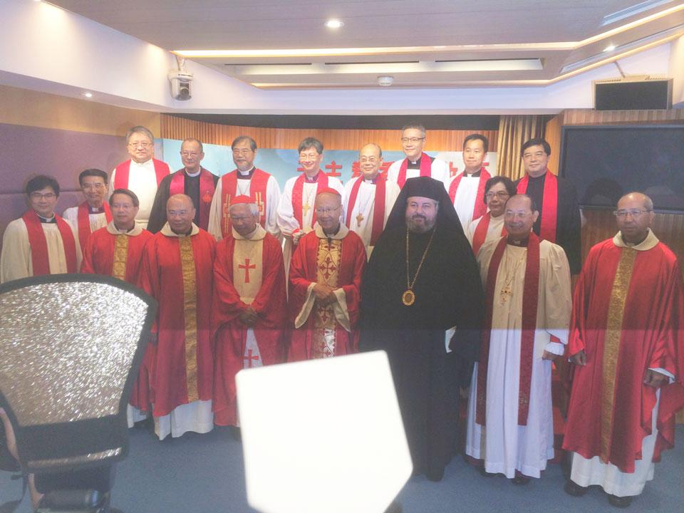 Metropolitan Nektarios at the Ordinations of Three New Auxiliary Roman Catholic Bishops