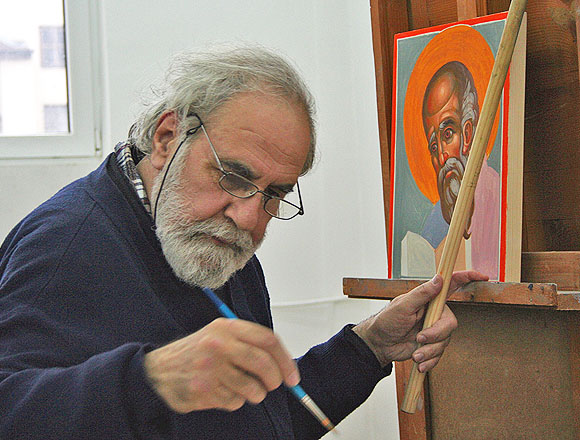 Fr.Stamatis Skliris at work