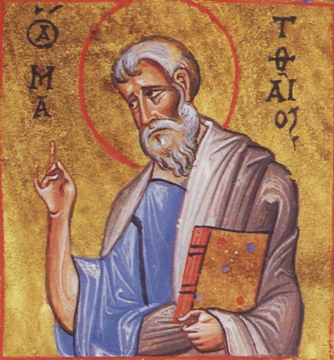 Saint Matthew the Apostle and Evangelist