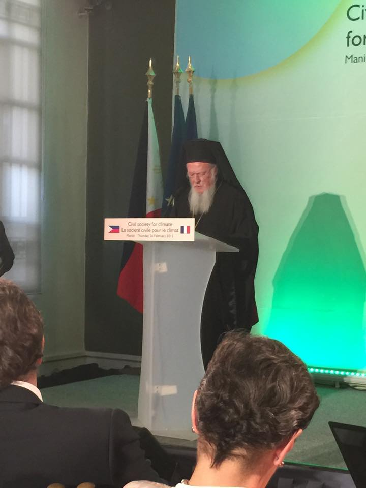 Ecumenical Patriarch Bartholomew invited to accompany President Hollande to the Philippines