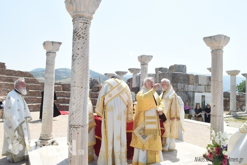 Patriarchal Liturgy at the tomb of Saint John the Theologian