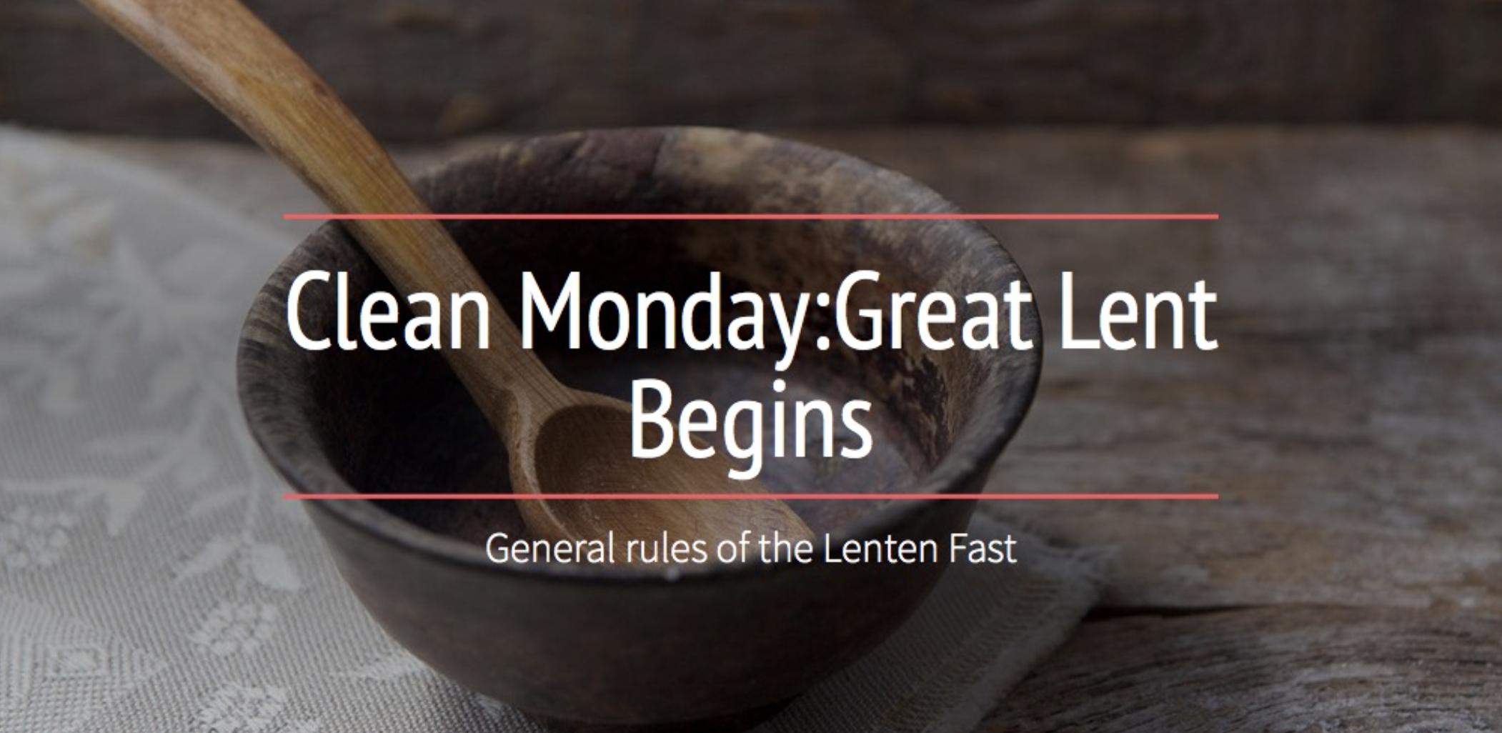 Clean Monday: Great Lent Begins