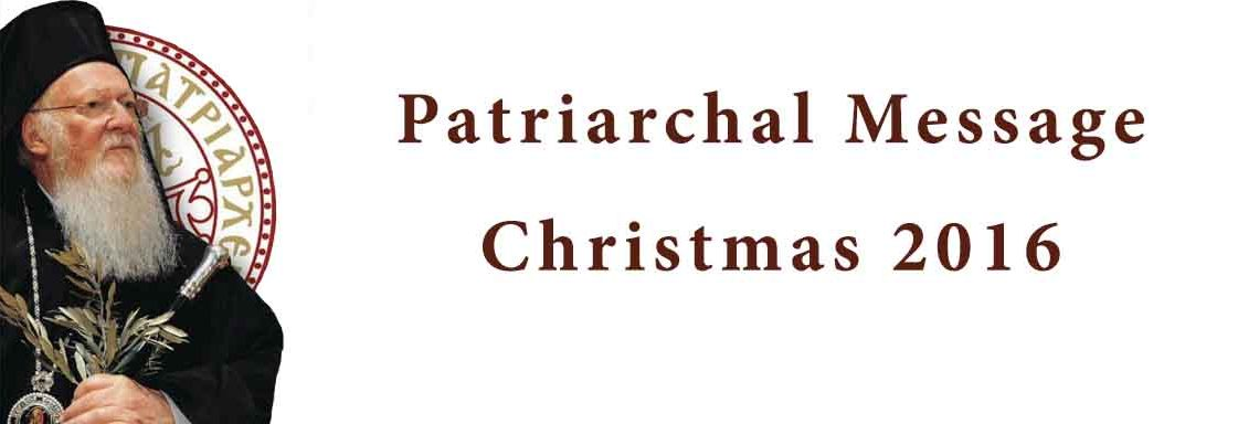 Patriarchal Encyclical for Christmas 2016